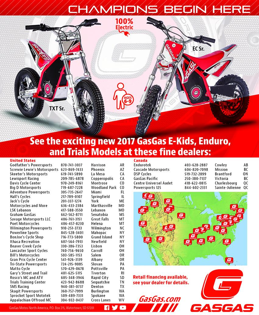GasGas E-Kids Cycle News Ad